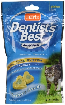 HARTZ Dentist's Best Chicken Flavored Dental Cat Treats