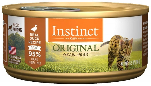 Instinct Original Grain Free Real Duck Recipe Natural Wet Canned Cat Food by