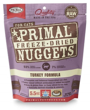 Primal Freeze-Dried Nuggets Turkey Formula for Cats 28oz (2 x 14oz)