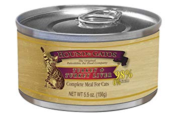Hound & Gatos Turkey & Turkey Liver Canned Cat Food 24 - 5.5 OZ Cans