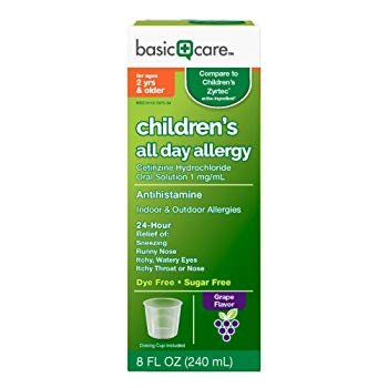 Basic Care Children's All Day Allergy Cetirizine HCl Oral Solution