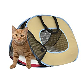 SportPet Designs Portable Ultra Light Cat Carrier with Zipper Lock