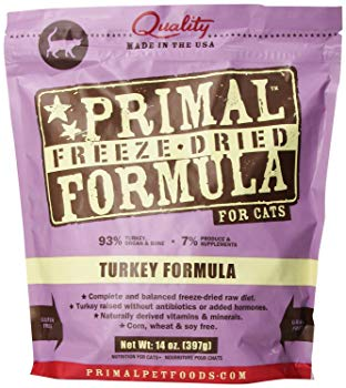 Primal Turkey Formula Nuggets Grain-Free Raw Freeze-Dried Cat Food