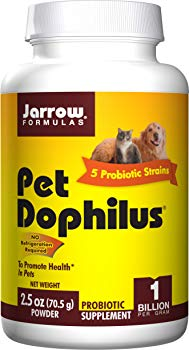 Jarrow Formulas Pet Dophilus Powder, Probiotic for Pets Intestinal Health, 70.5g