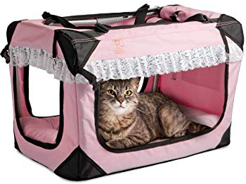 PetLuv Premium Cat Carrier & Travel Crate with Added Safety Features | The Happy Cat Carrier | Reduces Anxiety