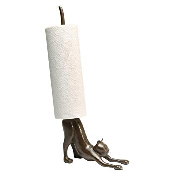 Paper Towel Stand - Yoga Cat Cast Iron Holder