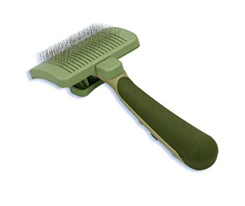 SAFARI Cat Self-Cleaning Slicker Brush, One Size, Cat Brush