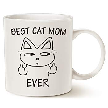 Funny Cat Mom Coffee Mug for Cat Lovers