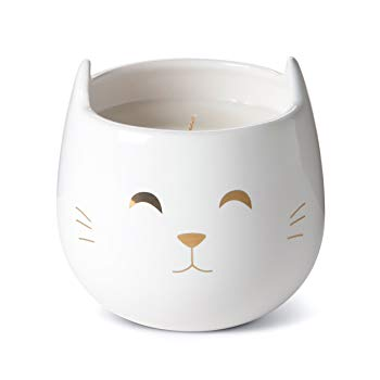 Tri-coastal Design Small Cute Scented Wax Candles Ceramic Cat Shaped Candle for Aromatherapy