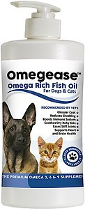 Finest for Pets Omegease Omega-Rich Fish Oil Dog & Cat Supplement