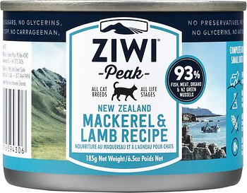Ziwi Peak Mackerel & Lamb Canned Cat Food