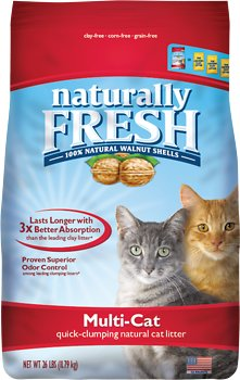 Naturally Fresh Walnut-Based Multi-Cat Quick-Clumping Cat Litter