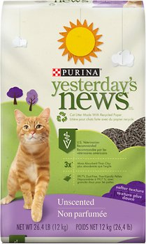 Purina Yesterday's News Softer Texture Unscented Cat Litter