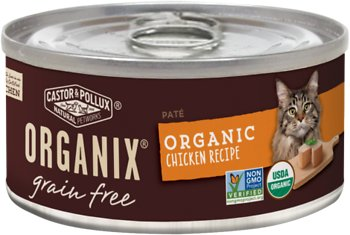 Castor & Pollux Organix Grain-Free Organic Chicken Recipe All Life Stages Canned Cat Food