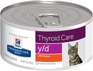 Hill's Prescription Diet y/d Thyroid Care with Chicken Canned Cat Food