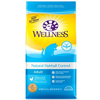 Wellness Complete Health Natural Dry Cat Food, Hairball Control Chicken Recipe, 6-Pound Bag