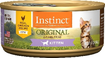 Instinct by Nature's Variety Kitten Grain-Free Real Chicken Recipe Natural Wet Canned