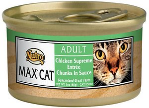 Nutro Max Adult Chicken Supreme Entree Chunks in Sauce Canned Cat Food
