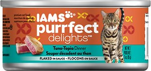 Iams Purrfect Delights Tuna-Topia in Sauce Canned Cat Food Review