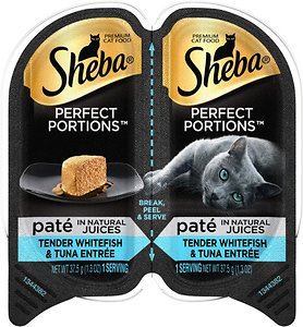 Sheba Perfect Portions Grain-Free Tender Whitefish & Tuna Entree Cat Food