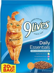 9Lives Daily Essentials with Chicken, Beef, & Salmon Flavor