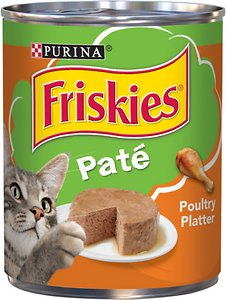 Friskies Classic Paté Poultry Platter Canned Cat Food Review