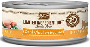 Merrick Limited Ingredient Diet Grain-Free Real Chicken Pate Recipe Canned Cat Food