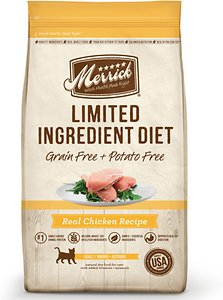 Merrick Limited Ingredient Diet Grain-Free Real Chicken Recipe Dry Cat Food