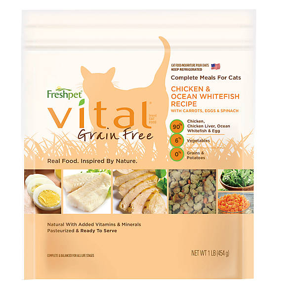 Freshpet® Vital™ Grain Free Complete Meals Chicken, Ocean Whitefish, & Egg Adult Cat Food
