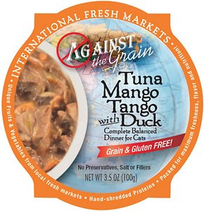 Against the Grain Tuna Mango Tango with Duck Dinner Grain-Free Wet Cat Food Review