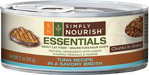 Simply Nourish Essentials Tuna Recipe Adult Chunks in Gravy Canned Cat Food
