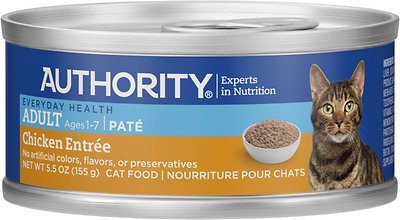 Authority Chicken Entree Adult Pate Canned Cat Food