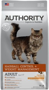 Authority Hairball Control & Weight Management Chicken & Rice Formula Adult Dry Cat Food