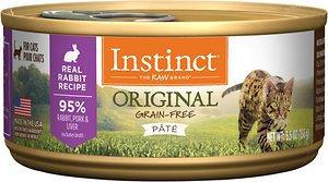 Instinct by Nature's Variety Original Grain-Free Real Rabbit Recipe Natural Wet Canned Cat Food