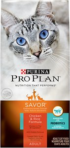 Purina Pro Plan Savor Adult Chicken & Rice Formula Dry Cat Food