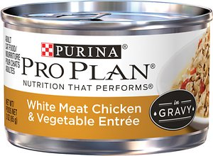 Purina Pro Plan Savor Adult White Meat Chicken & Vegetable Entree in Gravy Canned Cat Food
