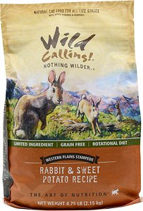Wild Calling Western Plains Stampede Rabbit & Sweet Potato Recipe Grain-Free Dry Cat Food