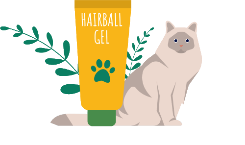 My cat has hairballs but refuses to eat hairball gel. What are some alternatives