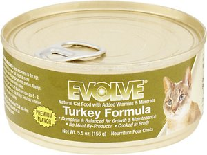 Evolve Turkey Formula Canned Cat Food