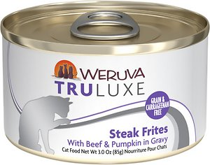 Weruva Truluxe Steak Frites with Beef & Pumpkin in Gravy Grain-Free Cat Food