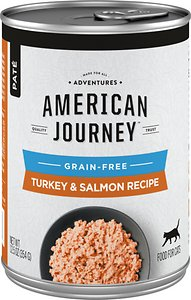 American Journey Pate Turkey & Salmon Recipe Grain-Free Canned Cat Food