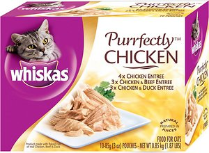 Whiskas Purrfectly Chicken Entree Cat Food