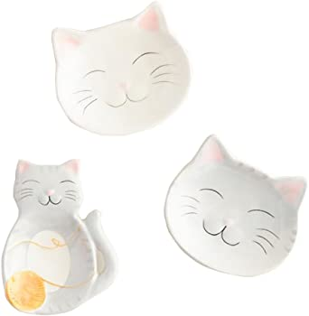 Cat Inspired Set Great as Tea Holders, Spoon Rest or Ring Dish