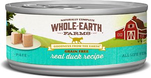 Whole Earth Farms Grain-Free Real Duck Pate Recipe Canned Cat Food