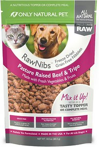 Only Natural Pet RawNibs Beef & Tripe Grain-Free Freeze-Dried Dog & Cat Food