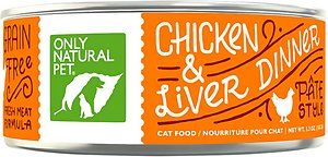 Only Natural Pet PowerPate Chicken & Liver Dinner Grain-Free Canned Cat Food