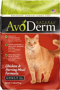 AvoDerm Natural Chicken & Herring Meal Formula Adult Dry Cat Food