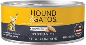 Hound & Gatos Chicken & Chicken Liver Formula Grain-Free Canned Cat Food