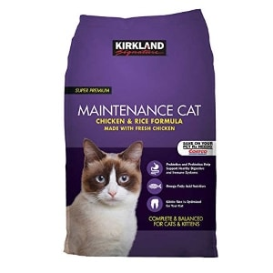 EVAXO Kirkland Signature Chicken and Rice Cat Food