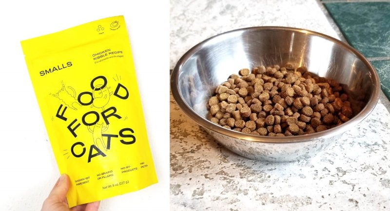 Smalls-Cat-Food-Review-Dry-Chicken-Side-by-Side
